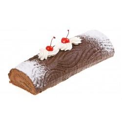 Rolada czekoladowo-brzoskwiniowa